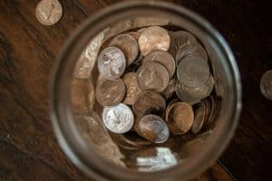 jar with us coins